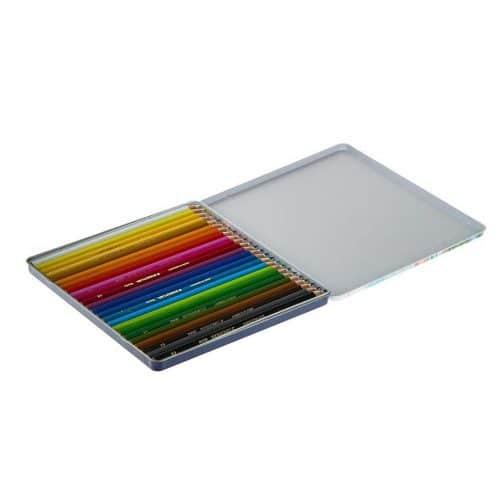 مداد رنگي 24 رنگ فلزي استدلر