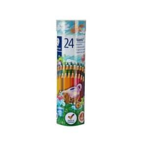 مداد رنگي 24 رنگ استوانه اي استدلر