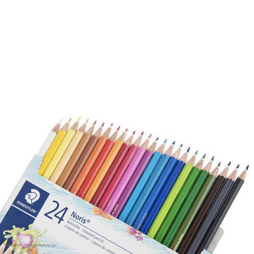 مداد رنگی 24 رنگ مقوایی استدلر