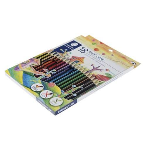 مداد رنگی 18 رنگ مقوایی استدلر