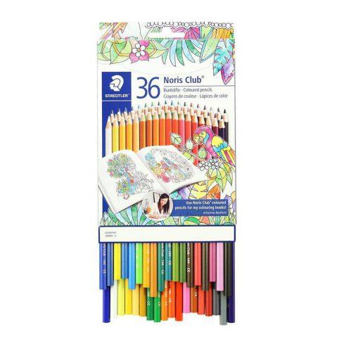 مداد رنگي 36 رنگ مقوايي استدلر