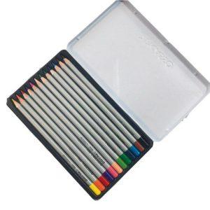 مداد رنگی آرتیست 12 رنگ جعبه فلزی پیکاسو