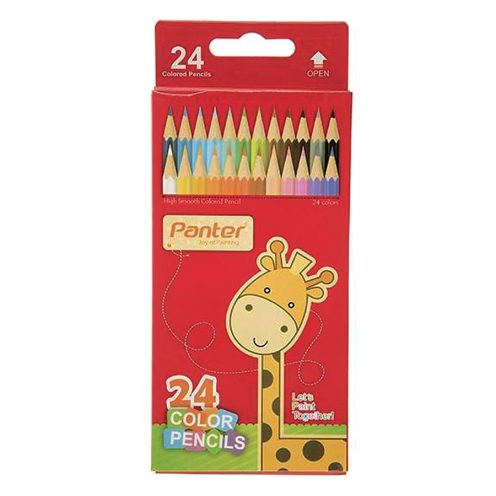 مداد رنگی 24 رنگ مقوایی پنتر
