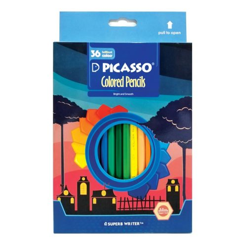 مداد رنگی 36 رنگ مقوایی پیکاسو