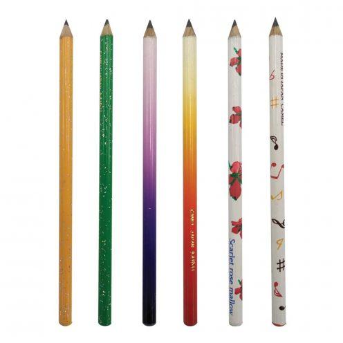 مداد مشکی کوتاه مینیاتوری بدنه رنگی کمل
