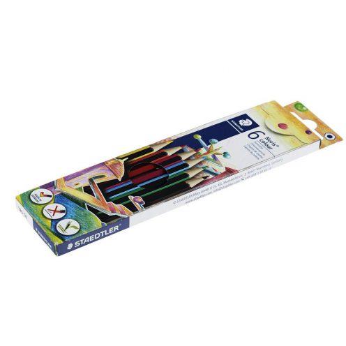 مداد رنگی 6 رنگ مقوایی استدلر