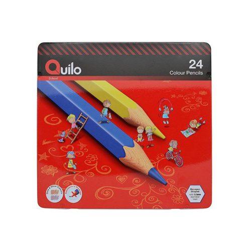 مداد رنگی 24 رنگ فلزی کویلو