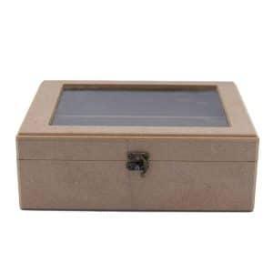 جعبه چوبی جا قاشقی شیار دار 181