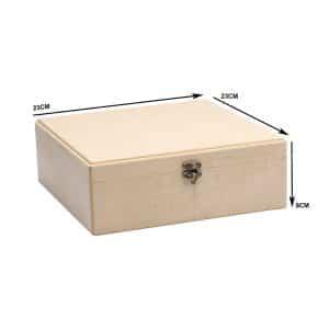 جعبه چوبی تیبگ مربع 203