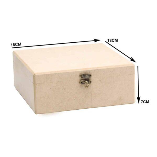 جعبه چوبی مربع 62/3